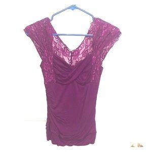 💜Stunning Laced Magenta Purple Blouse!💜